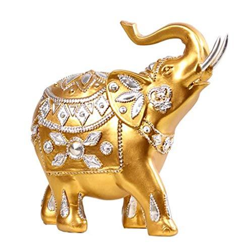 YIGEYI Résine Européenne Salon Accessoires De Maison Ornements Chanceux D'éléphant comme Cadeaux De Mariage Sculptures Décoratives