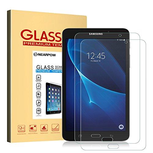 NEARPOW [2 Stück] Kompatibel mit Panzerglas Bildschirmschutzfolie Samsung Galaxy Tab A 7.0, Schutzfolie 9H Festigkeit, Anti-Kratzen, Anti-Öl, Anti-Bläschen, Anti-Fingerabdruck