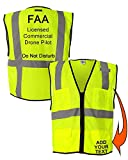 Custom Safety Reflective Mesh Vest with Zipper - Personalized Drone Pilot Vest