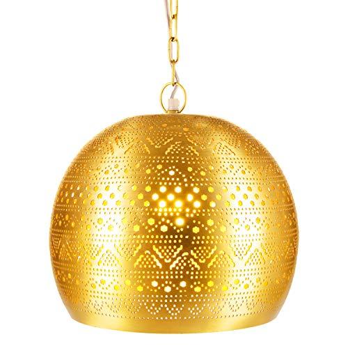 Lampada orientale marocchina - lampada a sospensione - Lampada da soffitto Herera Oro - 30cm - molto pratica per un ottima illuminazione - trasmettere un eccellente - raffinata decorazione