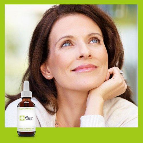 Flores de Bach menopausia- Ayúdese a la mezcla menopausia para vivir serenamente este período, recuperar un sueño reparador, adaptarse a este cambio hormonal