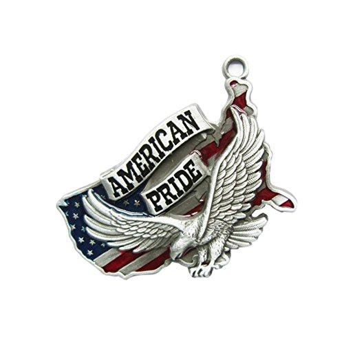 JEAN'S FRIEND New Vintage Fly Eagle American Pride Metal Charm Pendant Anhänger