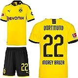 PUMA Borussia Dortmund BVB Heimset 2019 2020 Home Kit Trikot Shorts Kinder Mateu Morey Bauza 22 Gr 176