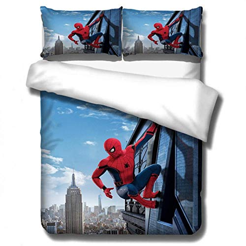 Fxirza Duvet Cover Set 3 Piece, Movie Heroes 260 * 230Cm Print Duvet Set Bedding Set For Double King Single Bed With 1 X Quilt Case 2 Pillowcases
