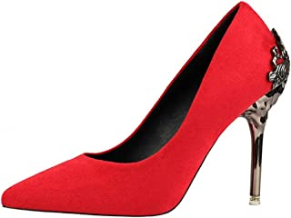 b42e26757f80 Kyle Walsh Pa Women Elegant Pumps Ladies Classic High Heel Shoes for Office  Banquet Wedding Party