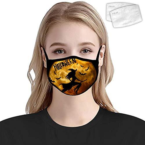 835 Halloween Skull Dust Proof Copertura Decorazione Lavabile Riutilizzabile Avvolgere Lato Donne Uomini 2 PZ Filtri Halloween strega luna Taglia unica