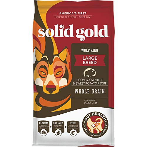 Solid Gold - Wolf King Bison and Brown Rice Recipe with Sweet Potatoes - Natural Adult Dry Dog Food - 24 lb bag
