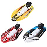 TOYANDONA 3pcs Inflatable Bath Toys Bath Boat Toys Wind Up Speed Boat Toys Bathtub Swimming Pool Outdoor Water Toy for Boys Girls Kids Toddlers