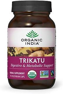 Organic India Trikatu Herbal Supplement - Supports Digestion, Metabolism & Nutrient Absorption, Vegan, Gluten-Free, USDA C...
