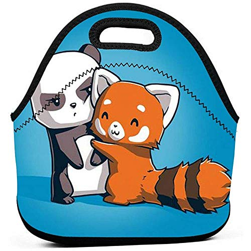 Karikatuur Dierpanda neopreen lunchzakje Tode geïsoleerde lunchbox levensmiddelcontainer handtas tas koelapparaat warme zak