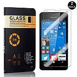 Bear Village® Displayschutzfolie für Microsoft Lumia 550, 9H Härtegrad Displayschutz, Keine Luftblasen, 3D Touch Schutzfilm aus Gehärtetem Glas für Microsoft Lumia 550, 2 Stück -