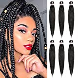 Pre-Stretched Braiding Hair Extensions Synthetic Crochet Braids 26...