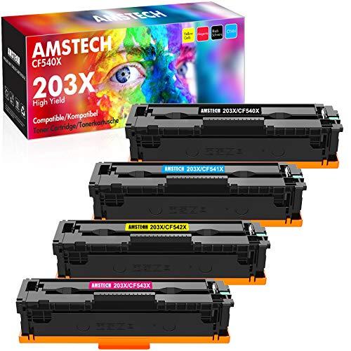 Amstech Kompatibel 203X Toner Cartridge Replacement fur HP 203X 203A CF540A CF540X fur HP Color Laserjet Pro MFP M281fdw M281fdn M281cdw M280nw Pro M254dw M254nw M254dn M281 CF541X CF542X CF543X Toner