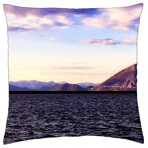 BXBX Throw Pillow Cover (20x20 Inch) - Grecia Cielo Nubes Montañas Mar Océano Bahía Puerto