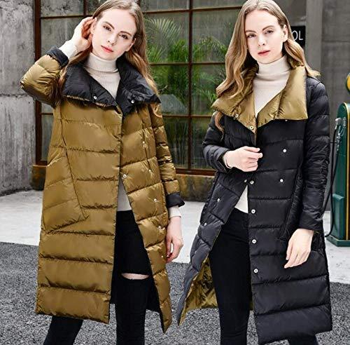 DPKDBN Parker, Vrouwen Double Side Wear Down Jacket Wit Eend Down Jassen Vrouwelijke Casual Mode Lange Down Jassen Bovenkleding