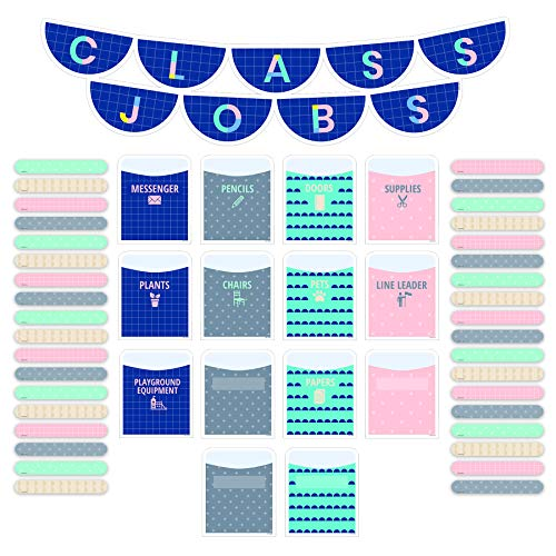 Creative Teaching Press Calm & Cool Class Jobs Mini Bulletin Board, CTP 8602, Multi