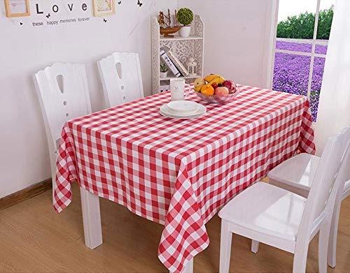 MKHB Plaid tafelkleed rechthoekig tafelkleed voor tafel modern huis decoratieve eettafel cover rood rond tafelkleed Picnic doek