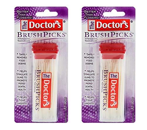 The Doctor's BrushPicks Interdental Toothpicks | 120-Picks per Pack | Pack of 2