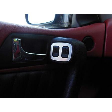 Interieur Stahlabdeckung Für Alfa Romeo Gtv Spider 916 2 Stück Elektrische Fensterheber Platte Zubehör Edelstahl Gebürstet Blenden Cockpit Dekor Mass Angefertigt Auto