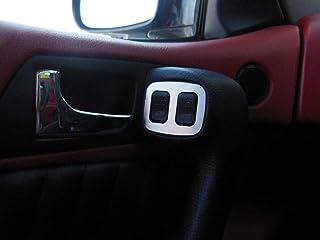 Interieur Stahlabdeckung für Alfa_Romeo GTV & SPIDER (916)   2 Stück Elektrische Fensterheber Platte Zubehör Edelstahl Gebürstet Blenden Cockpit Dekor Mass Angefertigt