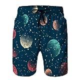 LJKHas232 Pantaloncini da Nuoto Estivi per Ragazzi Che eseguono bauli con Coulisse Modello Senza Cuciture Astratto M