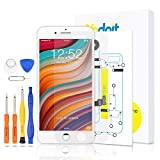 for iPhone 7 Plus Touch Screen Replacement - Yodoit LCD Display Digitizer Glass Full Assembly with Small Parts Camera Proximity Sensor Earpiece Speaker 3D Touch + Tool (5.5 inches White)