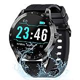 Gretel Smart Watch Fitness Tracker mit Herzfrequenzmesser 5ATM wasserdichte Smartwatches Aktivität Tacker Schrittzähler