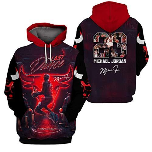 Chicago Bulls Michael Jordan 3D Printing Kapuzen Sweatshirt Herren Kapuzenpullover beiläufige Sportkleidung Hoodies, Männer Basketball Trainingsanzug