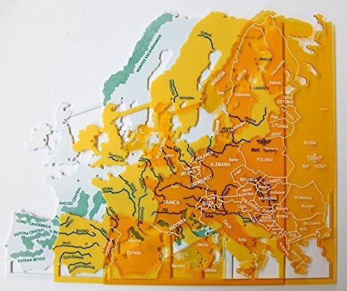 Plantillas Mapas Europa, Estuche x 3