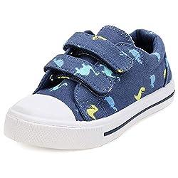 7. KomForme Blue Toddler Dinosaur Shoes