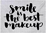 Cita Custom Puzzle 1000 Piezas, Smile es el Mejor Maquillaje Frase inspiradora Motivaciones diarias escritas a Mano, Blanco y Negro