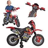 FEBER Motorbike Cross 400F - Moto à Batteries pour Enfants de 3 à 5 ans, 6v, Rouge (Famosa 800011250)