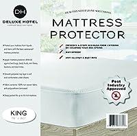 究極のトコジラミ防止ジッパー式防水マットレスプロテクター。 キング B00LI7HG74