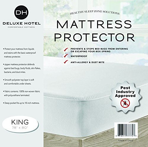 Ultimate Bed Bug Blocker Zippered Waterproof Mattress...