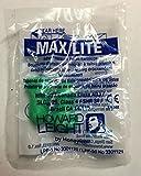 Howard Leight Max Lite, 50 pares, embalados por pares, verde, SNR 34 dB, protección auditiva, tapones de protección auditiva, tapones para los oídos, tapones para los oídos