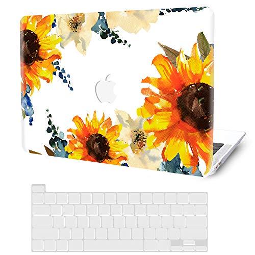 """Coque rigide pour MacBook Pro 13"""" 2020 2019 2018 2017 2016 version M1 A2338 A2289 A2251 A2159 A1706 A1989 A1708, G JGOO MacBook Pro 2020 + Protection clavier pour Mac Pro 13, tournesol."""