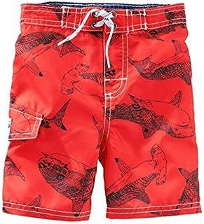 OshKosh B ' gosh Baby Boys ' Shark Print Swim Trunks ,レッド