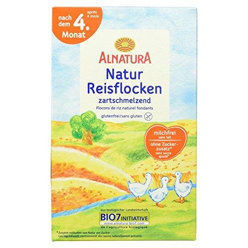 Alnatura Bio Instantbrei mit Natur-Reisflocken, 6er Pack (6 x 250 g)