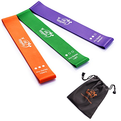 Fit Simplify Pro Series Resistance Loop Exercise Bands, Set of 3