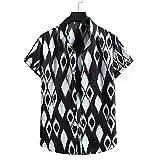 Ropa de Playa Hombre Verano Vacaciones Camisa Hawaiana Hombre Moda Funky T Camiseta Hombre Solapa Personalizadas Originales Baratos Corte Holgado cómodo Camisas Manga Corta Hombre