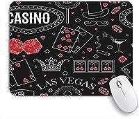 VAMIX マウスパッド 個性的 おしゃれ 柔軟 かわいい ゴム製裏面 ゲーミングマウスパッド PC ノートパソコン オフィス用 デスクマット 滑り止め 耐久性が良い おもしろいパターン (チョークカジノテーマビンテージパターン要素標識記号スポーツレクリエーション休暇マフィアレトロ)
