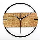 Orologio da parete silenzioso Vintage Retro Design moderno Semplice orologio da parete in legno Camera da letto Home Decor Hanging Watch Timer