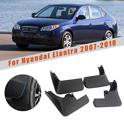 Car Mudguards for Hyundai Elantra 2007-2010 Car Mudguards Fender Splash Guards Mud Flaps Accessories Front and Rear Set of 4pcs
