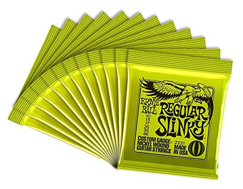 Ernie Ball Regular Slinky 2221-12 - Juego de cuerdas para guitarra eléctrica...