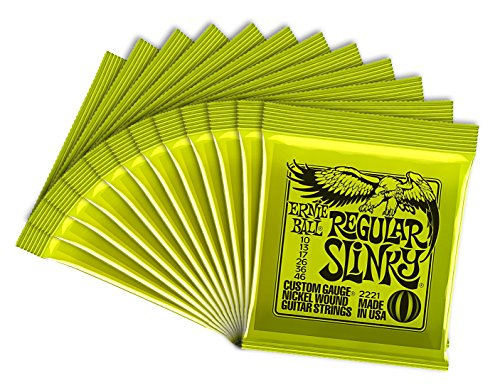 Ernie Ball Regular Slinky 2221-12 - Juego de cuerdas para guitarra eléctrica (12 set)