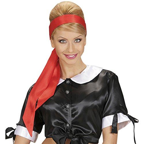 NET TOYS Piraten Gürtel Satin Haarband rot Seeräuber Schärpe Stierkämpfer Satintuch Pirat Haartuch Torero Accessoire Karneval Kostüm Zubehör