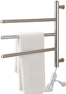 Toallero eléctrico con calefacción, tendedero de baño, tendedero de Acero Inoxidable 304, tendedero, tamaño: 46x56x12cm