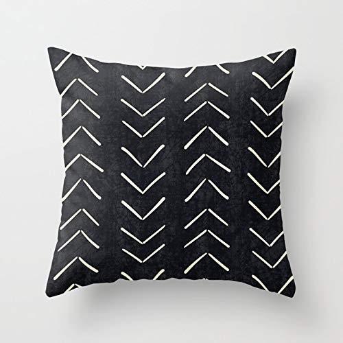 PPMP Funda de Almohada geométrica nórdica Personalizada, Funda de cojín en Espiga para decoración del sofá del hogar, Funda de Almohada, Funda de cojín A7 45x45cm 1pc