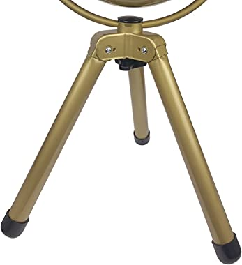 """HUNTER Metal Retro Tripod Table Fan-Adjustable Tilt Angle, 3 Speeds, 8"""", Gold Painted Finish with Gold Blades"""