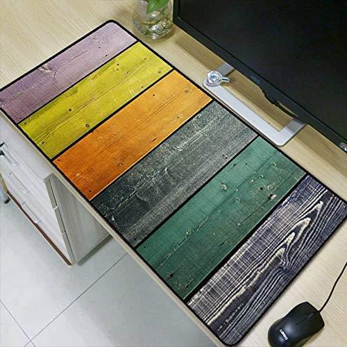 Muismat, creatief, eenvoudig, kleurrijk, grote houten plaat, waterdicht, gevoerd, gaming muismat 400x700mm